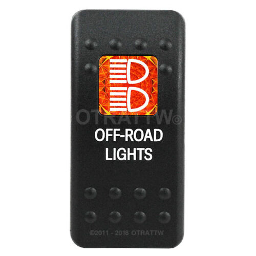 OFF-ROAD LIGHTS AMBER LENS OTRATTW Carling Tech Contura II Rocker Switch