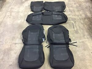factory oem cloth seat cover covers black 2015 2016 jeep renegade solid rear. Black Bedroom Furniture Sets. Home Design Ideas