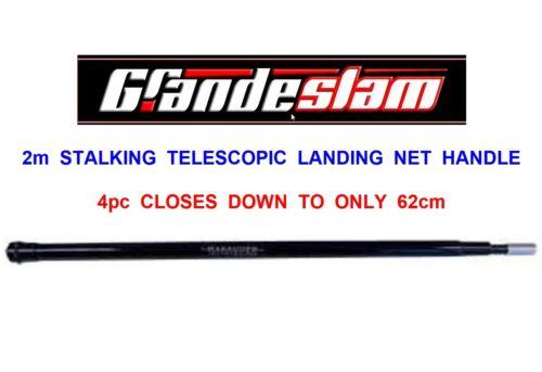 "GRANDESLAM 6ft-6/"" 2m 4pc TELESCOPIC STALKING LANDING NET HANDLE TROUT SALMON"