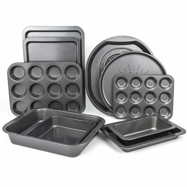 Prochef Set of 10 Baking Non Stick Oven Tray Sets Carbon Steel Roasting Pan Gift
