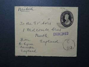 India-WWII-Censored-1-5-Anna-Stationery-Cover-to-England-Stamp-Removed-Z11683