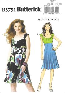 85891e9f1478 Details about Butterick Sewing Patterns Maggy London Designer Misses  Dresses  Casual   Formal