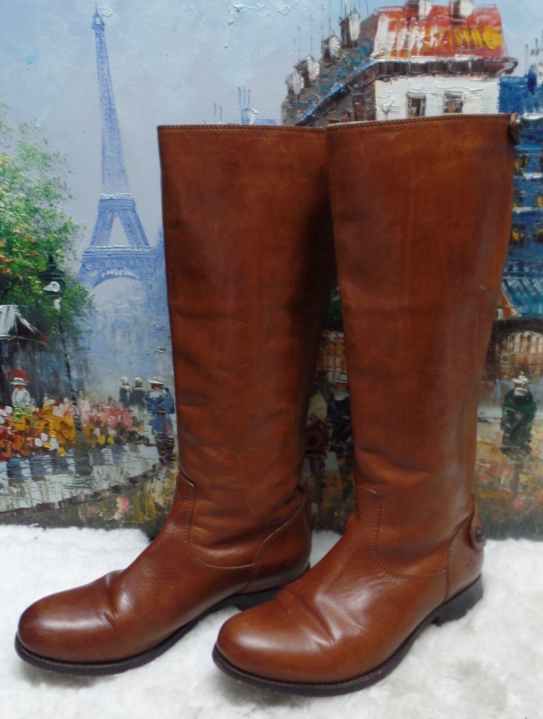 Frye Melissa Button Back Zip Boots - Size 6B - $388