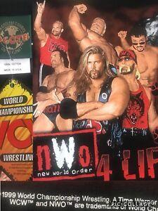 Mint-Vtg-039-99-NWO-WCW-Wolfpac-Hogan-Luger-Hall-Nash-Bagwell-Steiner-XL-46-T-Shirt
