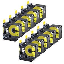 10pk For Dymo Rhino 42005200 Heat Shrink Tube 18058 Industry Label Tape 34x5