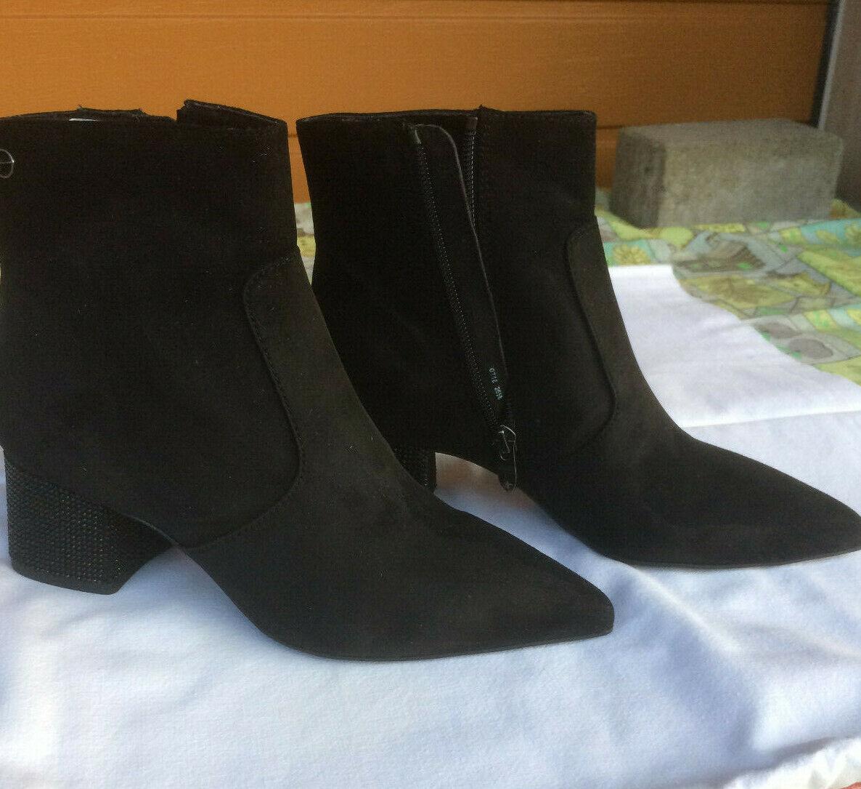 Tamaris Stiefeletten schwarz NEU Größe 38