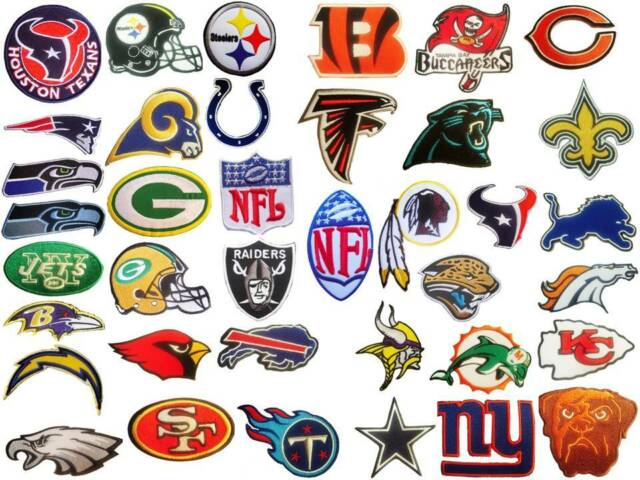 the latest 1f27d 82268 NFL, National Football league team logo patches. Embroidered iron on patch.
