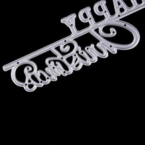 Feliz Navidad Metal Corte muere Stencil Tarjetas de papel de Scrapbook álbum Decoración UK