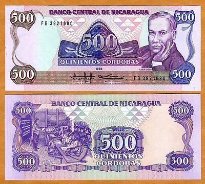 1985 Nicaragua 500000  Cordobas On 20 Cordobas Original UNC P-163 1990