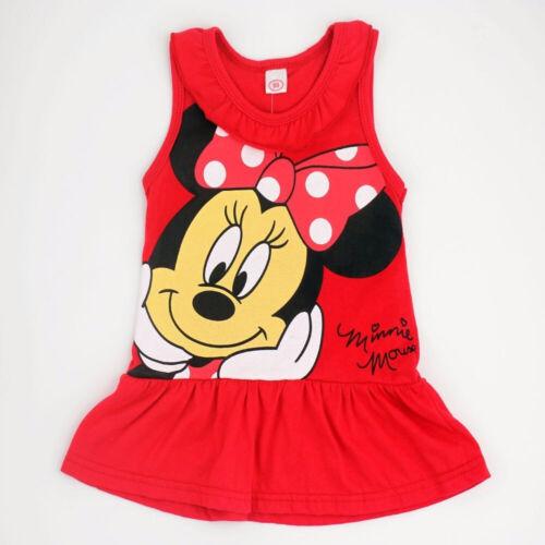 Cartoon Character Girl Casual Dress Sleeveless Stripe Print Dresses Kid Clothing