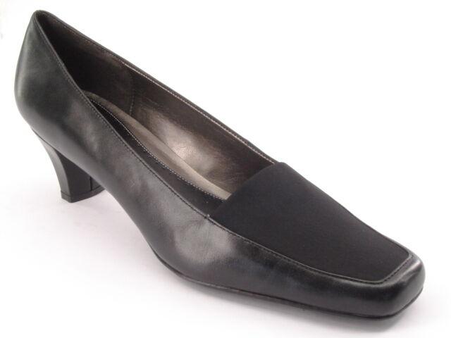 New NATURALIZER Women Black Leather Pump Med Slip Heel Slip Med On Dress Shoe Sz 11 M e9be4e