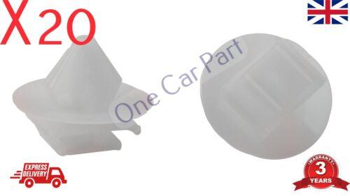 20x RENAULT MEGANE TWINGO DOOR TRIM STRIP CLIPS SIDE MOULDING RUBSTRIP PLASTIC