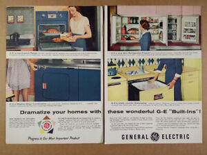 Details about 1955 GE Built-in Kitchen Appliances Wall Refrigerator-Freezer  vintage print Ad