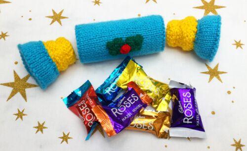 Christmas Cracker Sweet Holder 20 cms long Novelty Gift KNITTING PATTERN