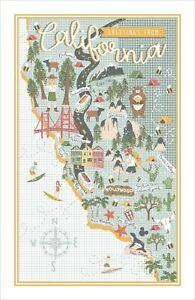 "Ulster Weavers, ""California"", Cotton tea towel. Printed in the UK."