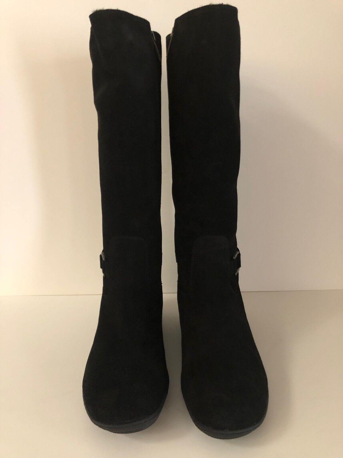 Aquatalia Womens Tall Suede Black Boots weatherproof 11 11 11 US  43 EUR New in Box a9fbc2