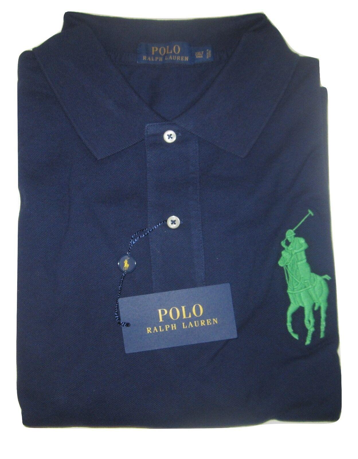 RALPH LAUREN Polo Mens Big & Tall Cotton Polo Shirt Long Sleeve LT XLT NWT