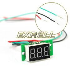 Mini LCD Pannello Voltmetro Digitale DC 0-99V Retroilluminazione Rosso 3 Cifre