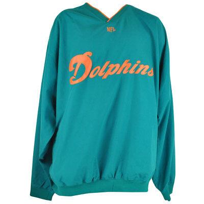 Sport Hingebungsvoll Nfl Miami Dolphins Flossen Micro V-ausschnitt Jacke Groß & Pullover Herren