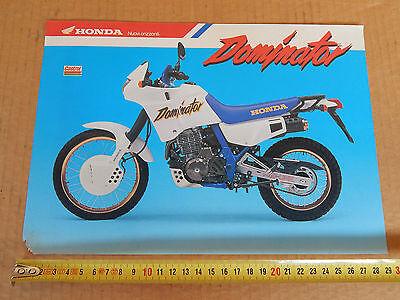 Brochure Originale Honda Nx 650 Dominator Depliant Promo Pacchetti Alla Moda E Attraenti