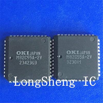 OKI M82C55A-2V PLCC-44 CMOSProgrammable Peripheral Interface IC