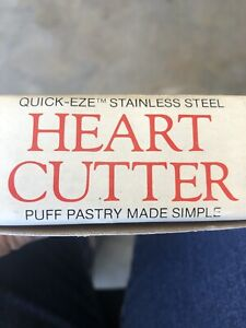 PUFF-PASTRY-Heart-Cutter-Quick-Eze-Stainless-Steel-by-Bentson-West-Designs-NIB