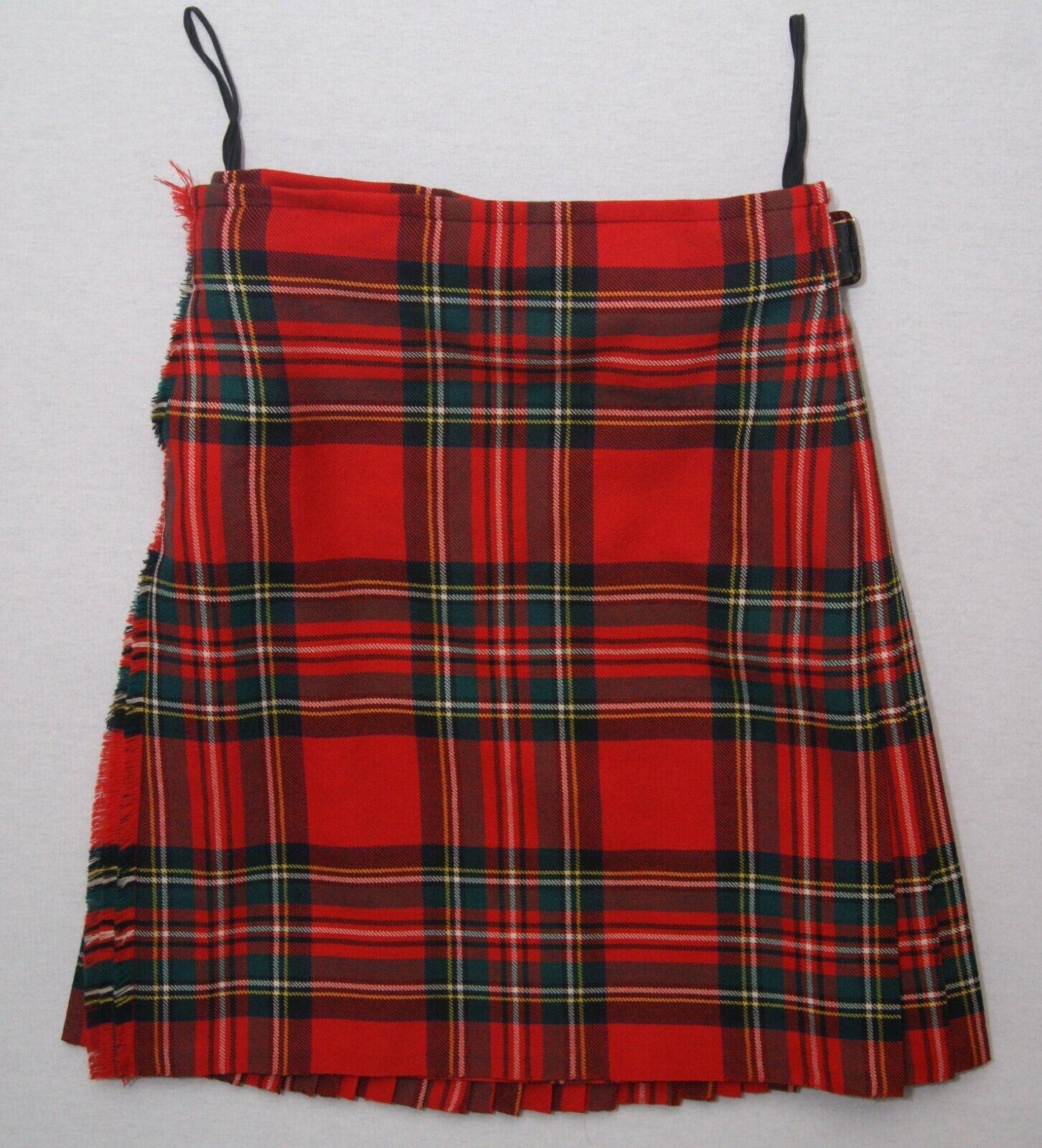 Stewart Royal Modern tartan men's pure wool Scottish 8 yard kilt 30