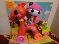 Adorable Lalaloopsy Littles Doll With Convertible Rocker N Stroller & Pet