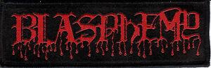 Blasphemy-Blood-Drip-Logo-Patch-Black-Death-Metal-Bathory-Venom-Deicide-Revenge