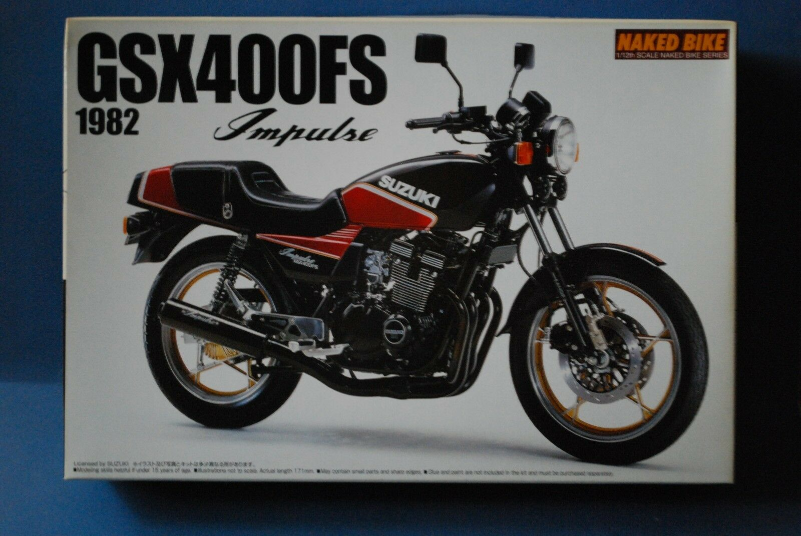 AOSHIMA JAPAN 1 12  SUSUKI GSX400FS. IMPULSE 1982.  VERY RARE KIT