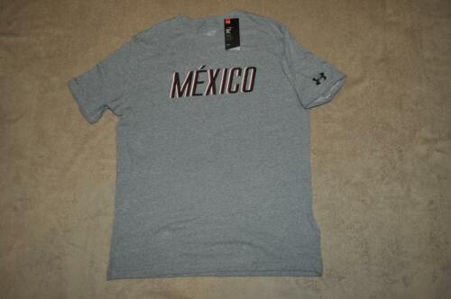Under Armour Men/'s Tri-Blend Mexico Pride T-Shirt 1274025 035 Gray See Sizes NWT