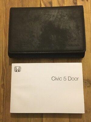01-05 Honda Civic 5 Porte Manuale Proprietari Manuale Con Dealer Wallet W- E La Digestione Aiuta