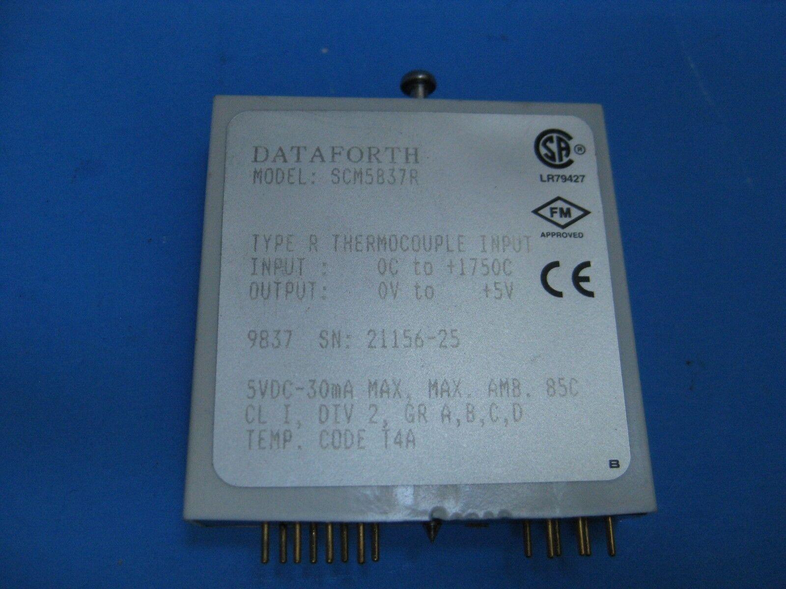 DATAFORTH SCM5B37  TYPE R Linearized Thermocouple Input Module - Used