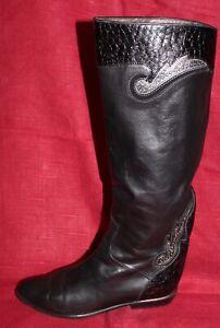 De Slouch Negro 80er Cuero Brunella Vtg Uk6 Detalles Boots 80s 39 Vintage Botas Ver Título Original Leather wO8kXZPNn0