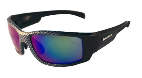 Solar Bat Dave Lefebre 55 Carbon Fiber Amber verde blu Mirrorosso Sunglasses