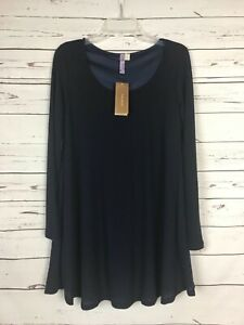 Francesca-039-s-Boutique-Alya-NEW-TAGS-Navy-Thermal-Tunic-Top-Shirt-Women-039-s-S-Small