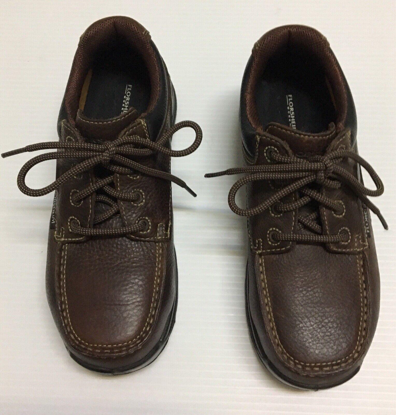 Florsheim Work Brown Leather Men's shoes, Composite Toe Oil Slip Resisting Sz 9D