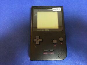 P6601-Nintendo-Gameboy-pocket-console-Black-GBP-Japan-Junk-For-parts-DHL