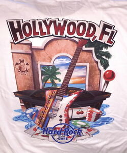 Hard-Rock-Cafe-HOLLYWOOD-FL-2017-City-Tee-T-SHIRT-Mens-Size-XL-NEW-with-HRC-TAGS
