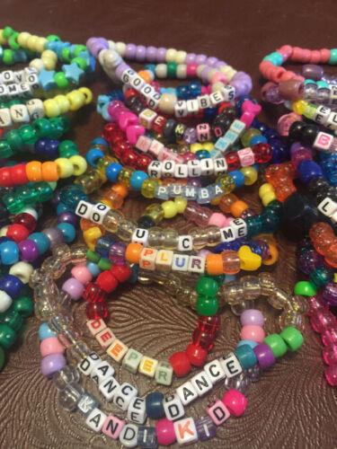20 Single Random Kandi Rave Bracelets