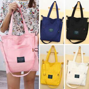 UK-Women-Satchel-Shoulder-Bag-Tote-Messenger-Cross-Body-Large-Canvas-Handbag