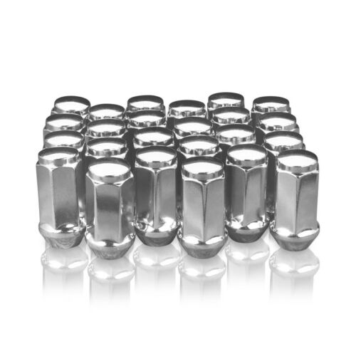 24 Extended Chrome Lugnuts Long fits Ford 14x2 thread F150 F250 F350 Super Duty