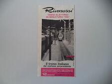 advertising Pubblicità 1960 TRENI RIVAROSSI