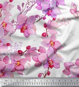 Stoff Meterware Soimoi Stoff Eukalyptusblätter /& Chrysantheme Blumen FL-708L