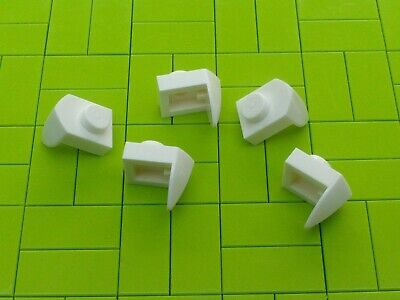 NEW pack of 10 Lego 15070 Modified Plate 1 x 1 with Tooth Vertical in white