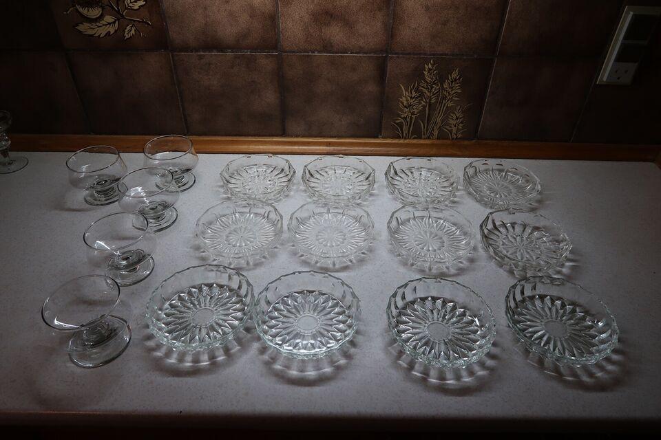 Glas, asiette , skål