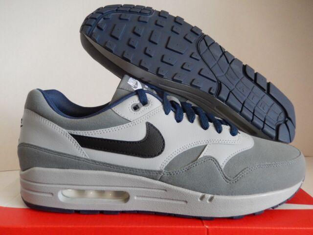 Nike Air Max 1 Id Cool Grey Grey Navy Blue Sz 12 943756 997 For Sale