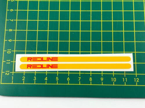 old school bmx decals stickers redline flight cranks red on yellow