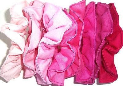 Hair Scrunchie Pink Rose Bubblegum Fuchsia Cotton Fabric Scrunchies by Sherry