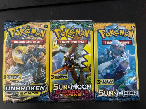 3 Card Mini Booster Packs 1:5 Hidden Fates Pokemon Factory Sealed Packs X 10!!